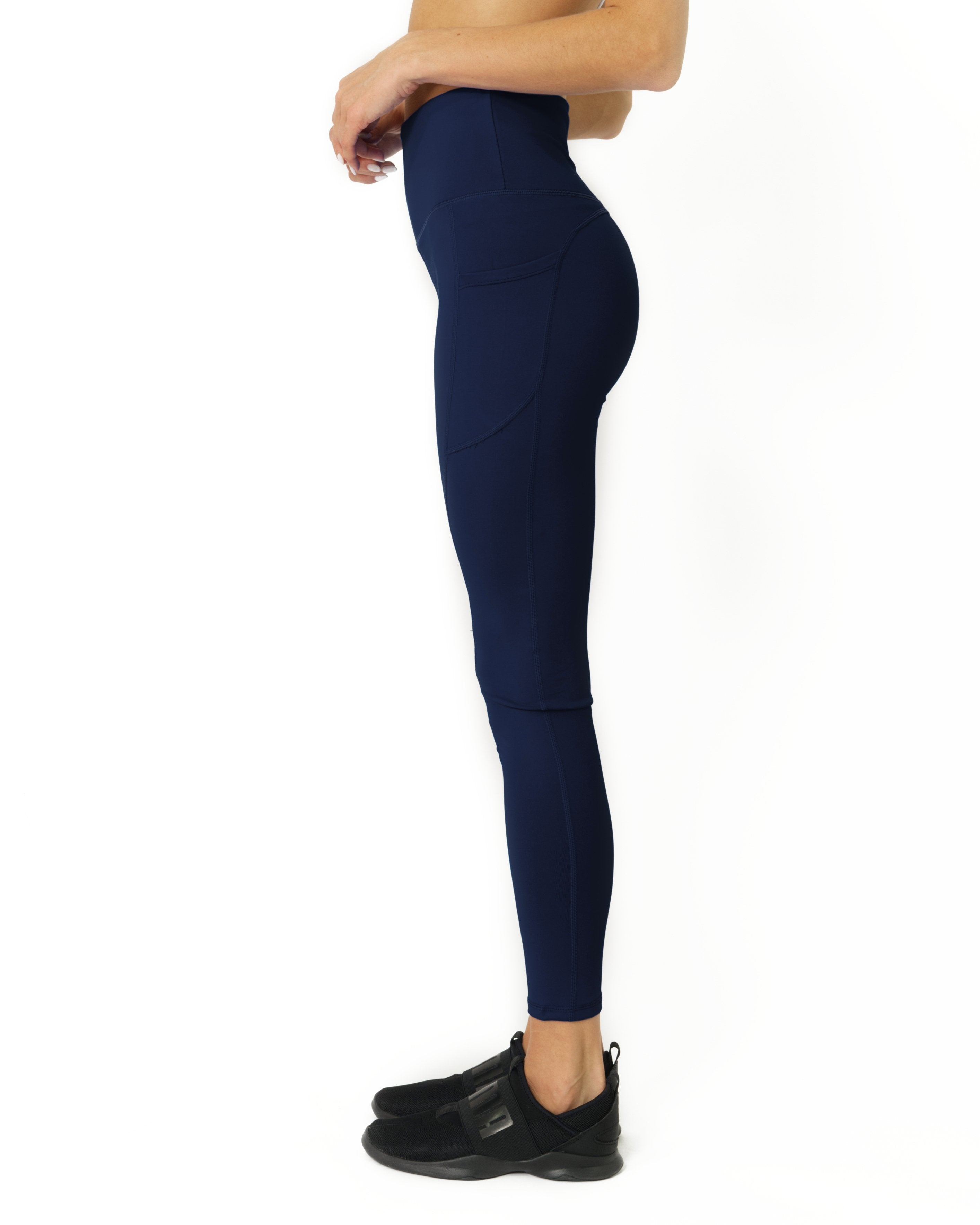 The Bree High Waisted Leggings - Navy Blue