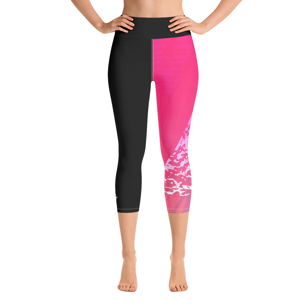 Pink and Black Capri Leggings