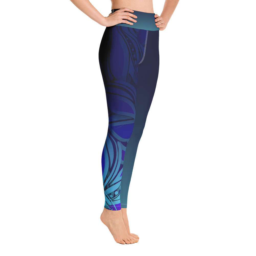 Blue Womens Leggings