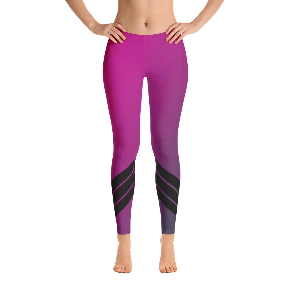 Pink and Purple Womens Leggings