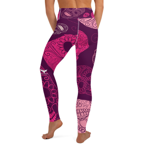 skull candy purple womens leggings