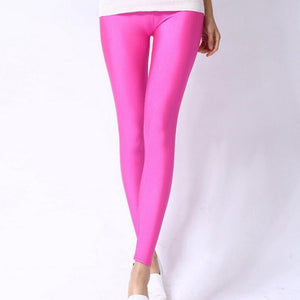 Rose Shiny Womens Leggings