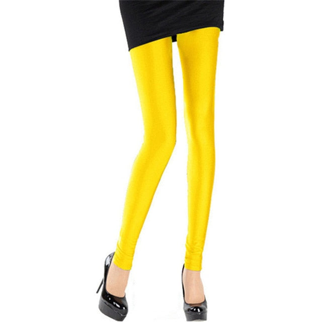 Gold Shiny Womens Leggings
