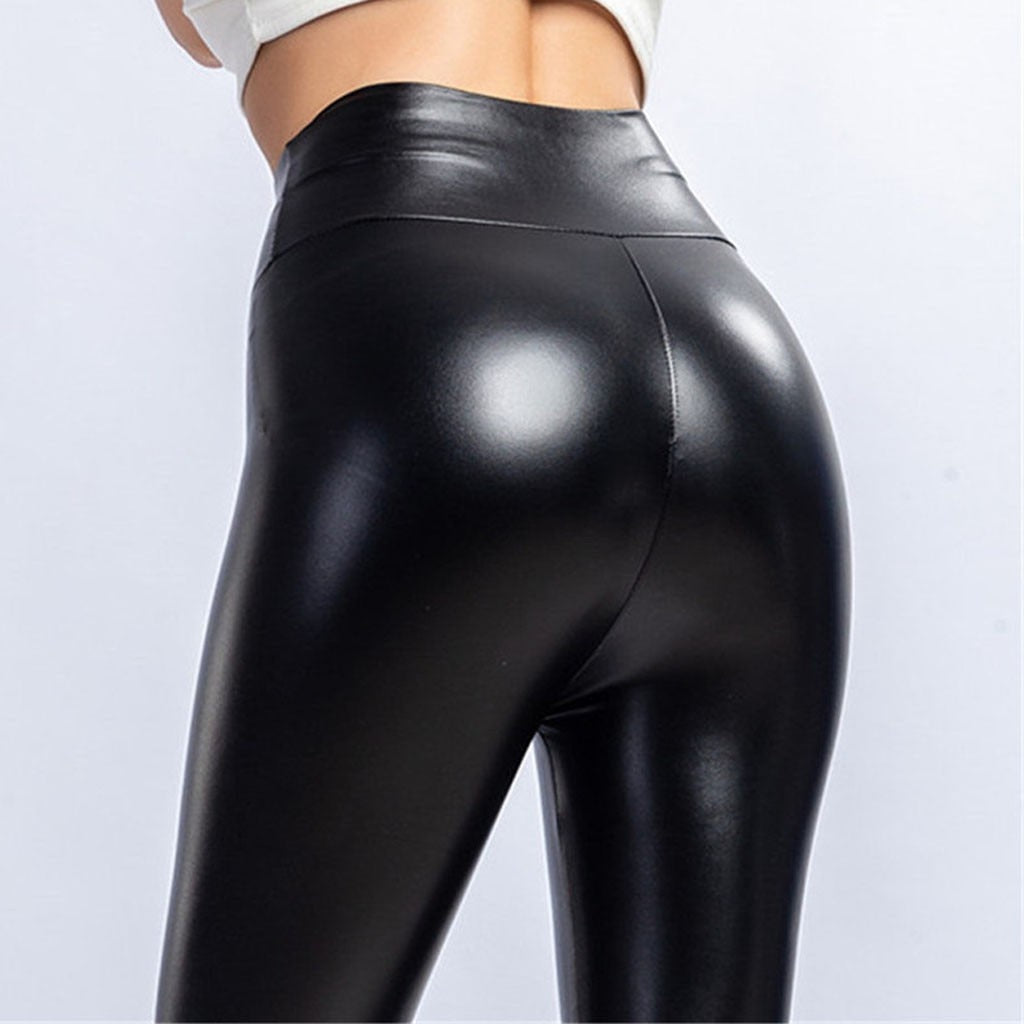 Black Stretch Shiny Liquid Leggings