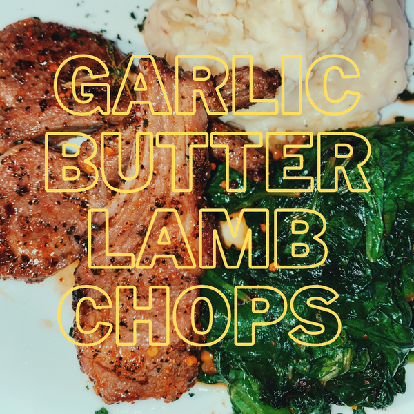 Lamb Chops with Garlic Butter Sauce