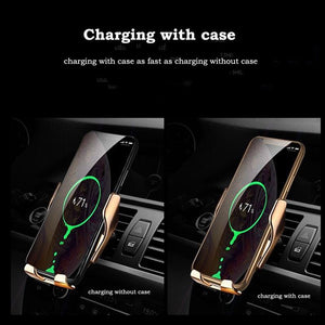IntelloHolder® 2 in 1 Automatic Clamping Smart Wireless Charger/Holder - Shoppersy