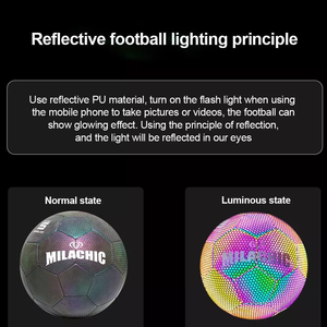 HaloGoal-Holographic Glow Reflective Soccer Ball - Shoppersy.com
