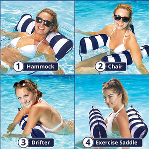 Pool Float 4 in 1 Floating Hammock Chair - Shoppersy.com
