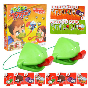 Tic-Tac Chameleon Tongue Funny Board Game For Family Party - Shoppersy.com