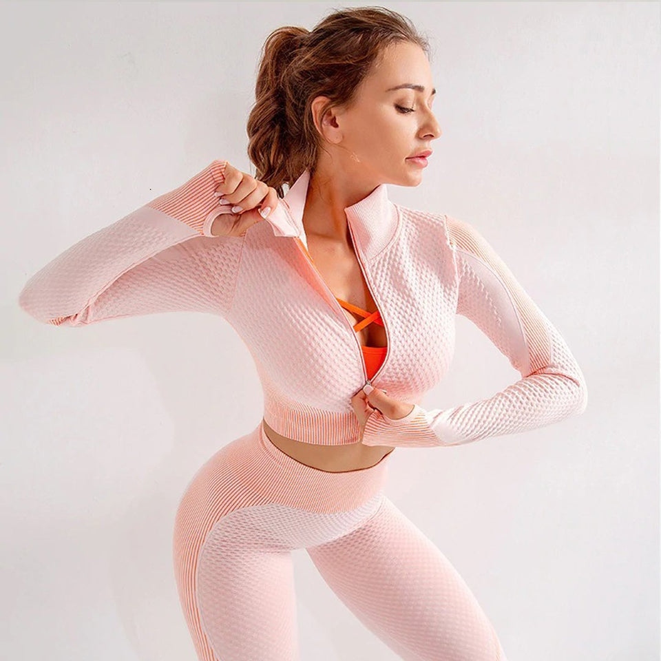 MyTherapyst™ Seamless Gym Suit Set for Women - Shoppersy.com
