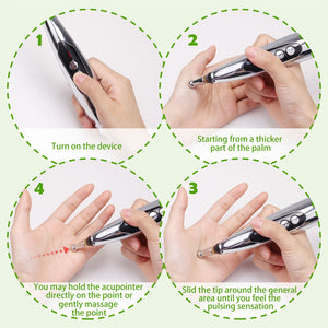 AcuPenCture ™ New Rechargeable Acupuncture Pen With Massage Heads - Shoppersy.com