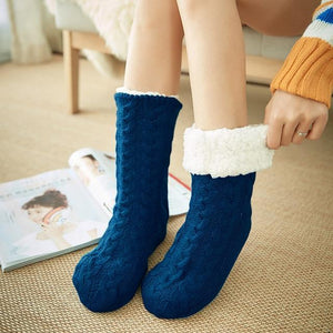 Fleefew-Fleece Indoor Socks - Shoppersy.com