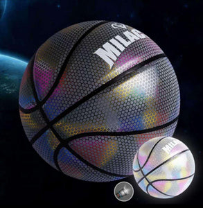 HaloGoal-Holographic Glow Reflective Basket Ball - Shoppersy.com