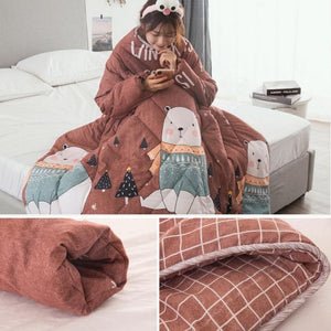 Lazyblanket- Quilted Blanket W/Hoody - Shoppersy.com