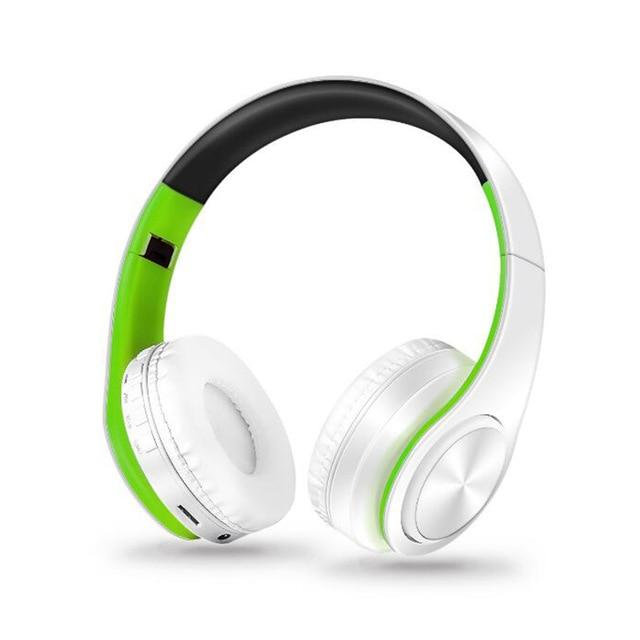 Adjustable Wireless Headphones with Mic - Shoppersy