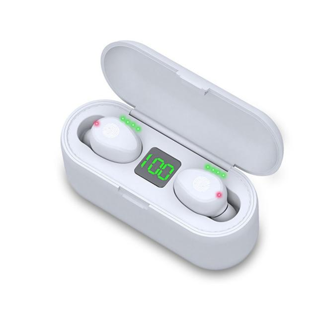 Bluetooth V5.0 Wireless Earbuds 2000 mAh Power - Shoppersy