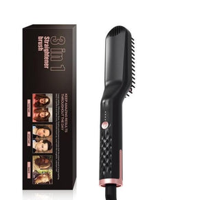 BeardSoft ™ 3 in1 Hot Comb Beard Straightener - Shoppersy.com