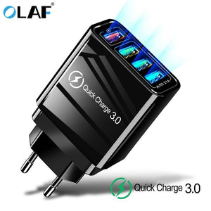 48W Quick Charger 3.0 USB Charger for Samsung A50 A30 iPhone 7 8 Huawei P20 And others - Shoppersy.com