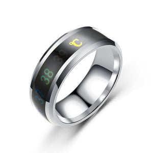 Titanium Ring Temperature Steel Mood - Shoppersy