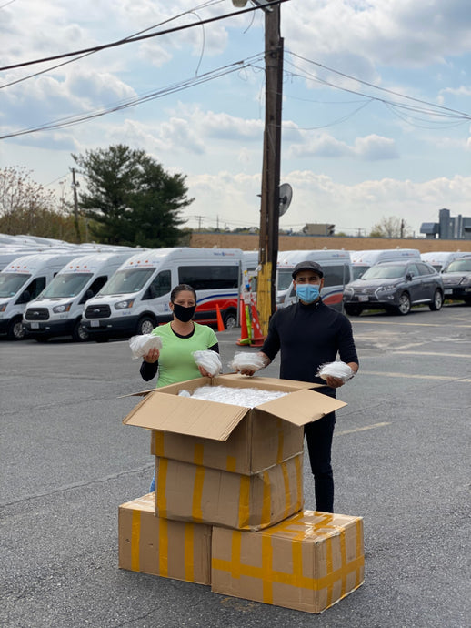 5,000 masks delivered to Challenger Transportation who offers shared-ride and door-to-door services to passengers with disabilities. #ACTaskForce