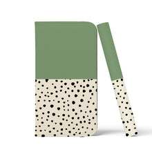 Load image into Gallery viewer, LIV GEO DOTS Aspen Green Wallet Case
