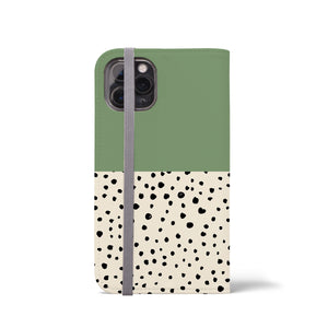 LIV GEO DOTS Aspen Green Wallet Case