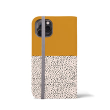 Load image into Gallery viewer, GEO MINI DOTS Sunflower Wallet Case