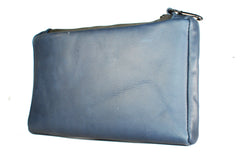 TPK Valuables Pouch - Valuables Pouch - Ocean Blue Napa, Premium Full Grain Leather Pouch