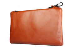 TPK Valuables Pouch - Valuables Pouch - Bourbon Red, Premium Full Grain Leather Pouch