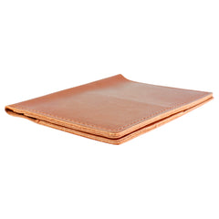 TPK Leather Passport Travel Wallet  – English Tan, Premium Full Grain Leather Passport Holder or Passport Cover