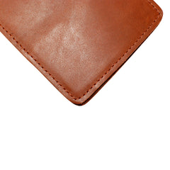 Yardage PGA Book Holder - Professional Tour Version, English Tan, Premium Full Grain Leather Book Cover