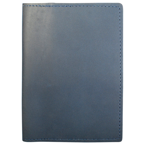 TPK Leather Passport Travel Wallet  – Ocean Blue Napa, Premium Full Grain Leather Passport Holder or Passport Cover