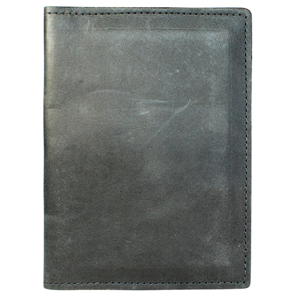 TPK Leather Passport Travel Wallet  – Black, Full Grain Leather Passport Holder or Passport Cover
