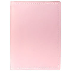TPK Leather Passport Travel Wallet  – Pink, Full Grain Leather Passport Holder or Passport Cover