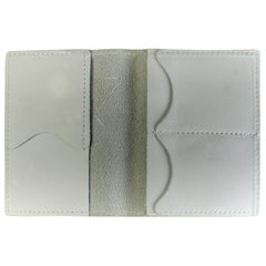 TPK Leather Passport Travel Wallet  – White Pearl, Full Grain Leather Passport Holder or Passport Cover