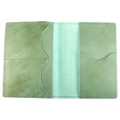 TPK Leather Passport Travel Wallet  – Fairway Green, Full Grain Leather Passport Holder or Passport Cover