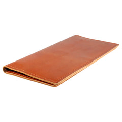 TPK Checkbook Holder - Bourbon Red, Premium Full Grain Leather Checkbook Cover