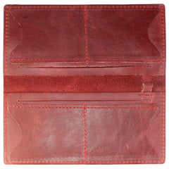 TPK Checkbook Holder – Burgundy Red, Full Grain Leather Checkbook Cover