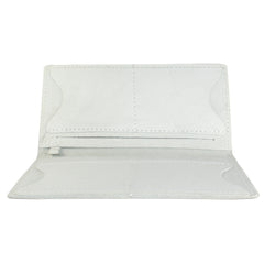 TPK Checkbook Holder – White Pearl, Full Grain Leather Checkbook Cover