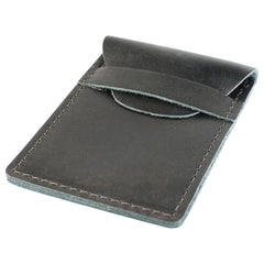 TPK Business Card Holder  – Ebony Black, Premium Full Grain Leather Business Card Holder