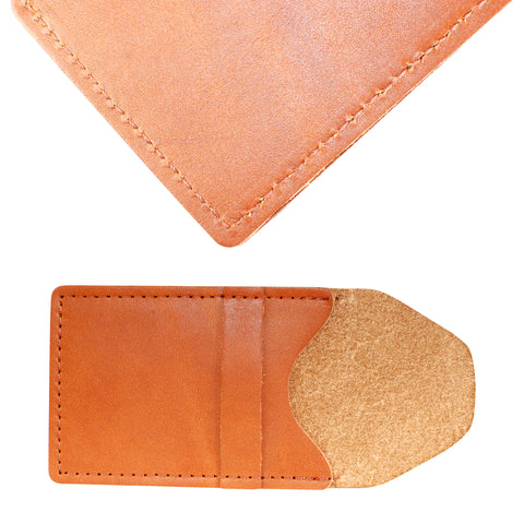 TPK Business Card Holder  – English Tan, Premium Full Grain Leather Business Card Holder
