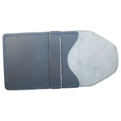 TPK Business Card Holder  – Ocean Blue Napa, Premium Full Grain Leather Business Card Holder