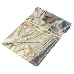 TPK Business Card Holder  – RealTree Hardwoods, Full Grain Leather Business Card Holder