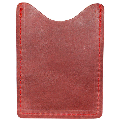 TPK License Holder  – Burgundy Red, Full Grain Leather License Holder or License Wallet