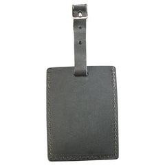 TPK Leather Line – Premium Leather Golf Bag Tag, Rectangular, Ebony Black