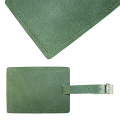 TPK Leather Line – Premium Leather Golf Bag Tag, Rectangular, Fairway Green