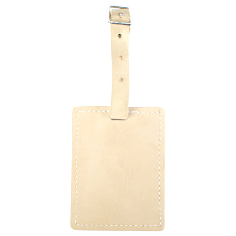 TPK Leather Line – Premium Leather Golf Bag Tag, Rectangular, Desert Sand