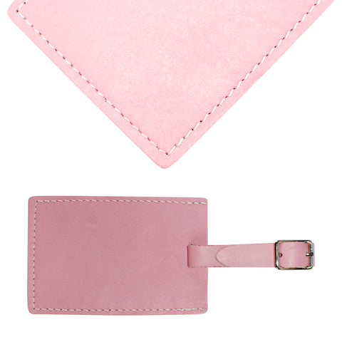 TPK Leather Line – Premium Leather Golf Bag Tag, Rectangular, Pink