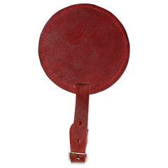 TPK Leather Line – Premium Leather Golf Bag Tag, Round, Red