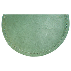 TPK Leather Line – Premium Leather Golf Bag Tag, Round, Fairway Green